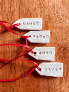 How to make quick and easy Homemade Clay Ornaments and Gift Tags