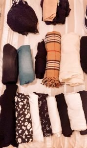 Roll your clothes when packing